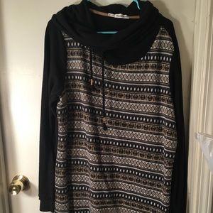 Tunic sweater.